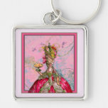 Marie Antoinette Peacocks and Cakes Key Chains