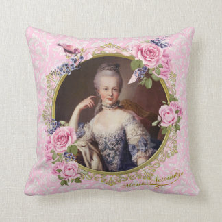 Marie Antoinette Pink Floral Pillow cushion