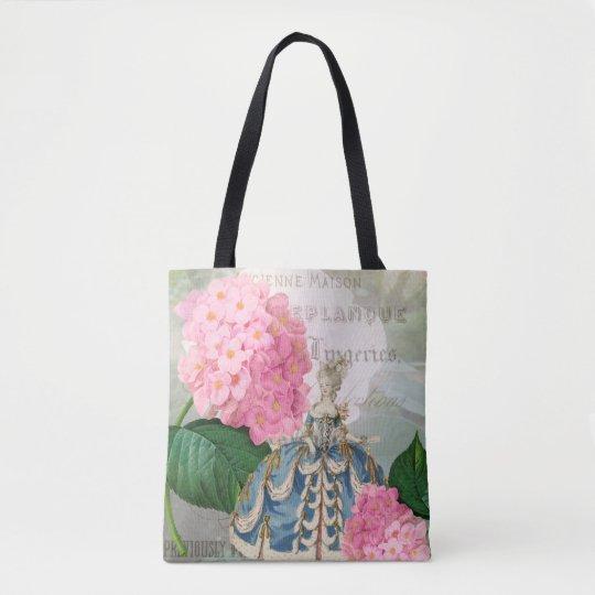 Marie Antoinette Pink Flowers Tote