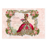 Marie Antoinette & Pink Roses Business Card