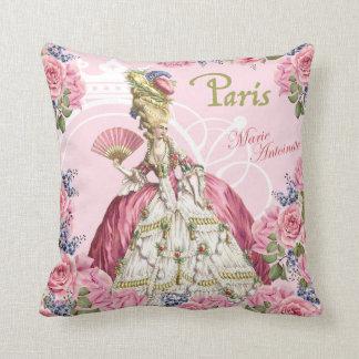 Marie Antoinette Pink Roses Frame Pillow