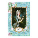 Marie Antoinette Pink Roses n Lace Customised Stationery