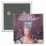 Marie Antoinette Purple Floral Damask 15 Cm Square Badge