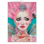 Marie Antoinette Queen Bee - let them eat cupcake Greeting Card