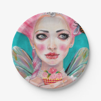 Marie Antoinette Queen Bee - let them eat cupcake Paper Plate