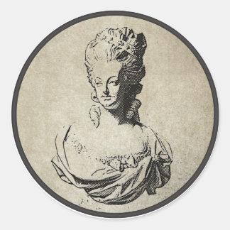 Marie Antoinette Round Sticker
