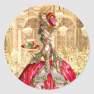 Marie Antoinette Tea Party Christmas Stickers Tags