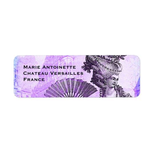 Marie Antoinette & Versailles Castle in Purple