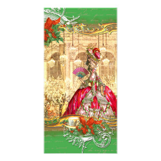 Marie Antoinette Versailles Christmas Tea Party Photo Greeting Card