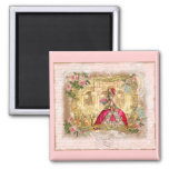 Marie Antoinette Versailles Party Pink Refrigerator Magnet