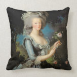 Marie Antoinette with a Rose, 1783 Cushion