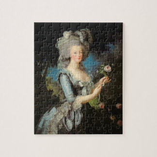 Marie Antoinette with a Rose, 1783 Jigsaw Puzzle