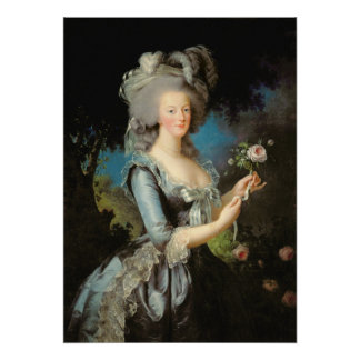 Marie Antoinette with a Rose 1783 Poster