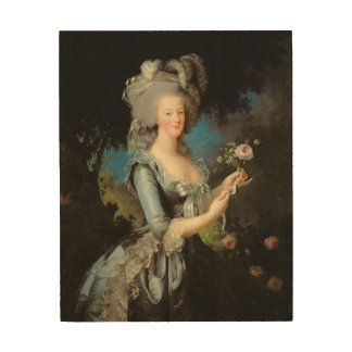 Marie Antoinette  with a Rose, 1783 Wood Wall Decor