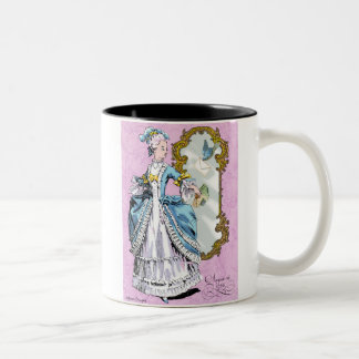 Marie Antoinette with Bluebird Two-Tone Coffee Mug