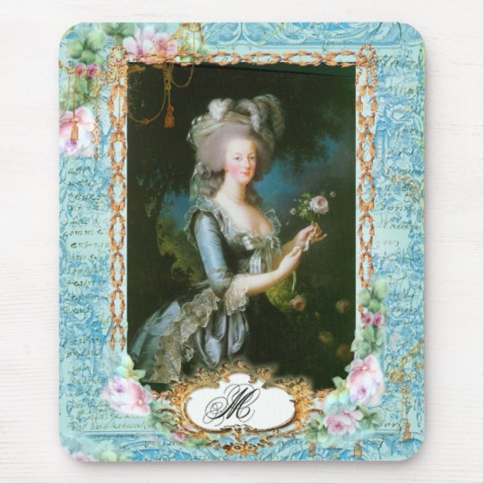 Marie Antoinette with Pink Roses and Lace Mouse