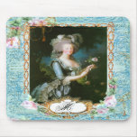Marie Antoinette with Pink Roses and Lace Mouse Mat