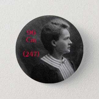 Marie Curie Curium 6 Cm Round Badge