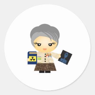 Marie Curie Round Sticker