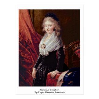 Marie De Bourbon By Fuger Heinrich Friedrich Postcard