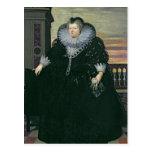 Marie de Medici  Queen of France, 1617 Postcard