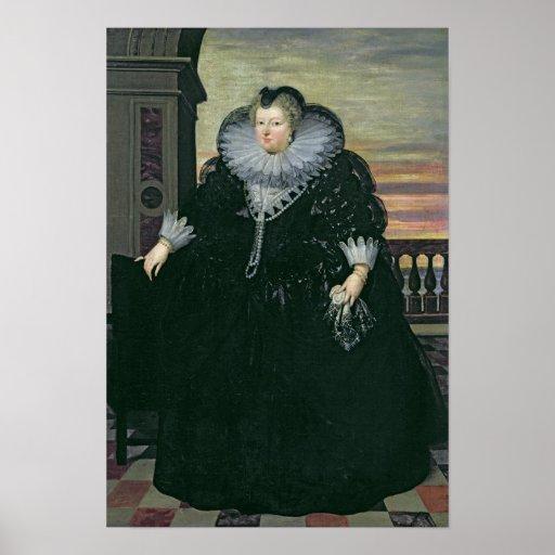 Marie de Medici  Queen of France, 1617 Poster