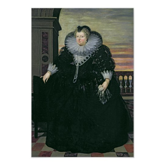 Marie de Medici  Queen of France, 1617 Poster