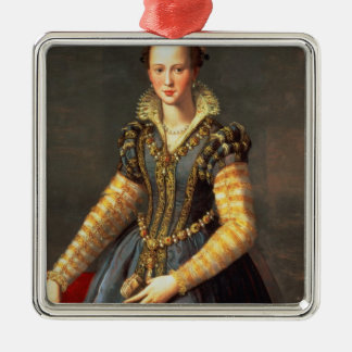 Marie de Medici , wife of Henri IV of France Silver-Colored Square Decoration
