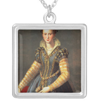 Marie de Medici , wife of Henri IV of France Silver Plated Necklace
