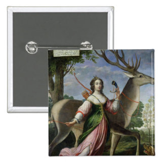 Marie de Rohan-Montbazon  Duchess of Chevreuse 15 Cm Square Badge