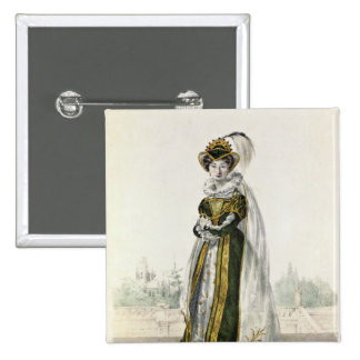 Marie Dorval  in 'Marion Delorme' by Victor 15 Cm Square Badge