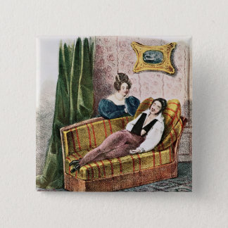 Marie Dorval  in the role of Adele d'Hervey 15 Cm Square Badge