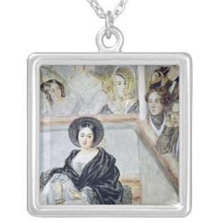 Marie Duplessis  at the Theatre Silver Plated Necklace