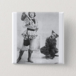 Marie Lloyd  as Dick Whittington in 1898 15 Cm Square Badge