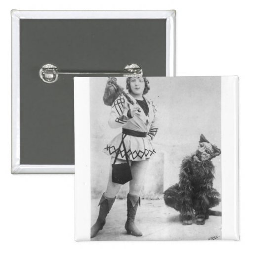 Marie Lloyd  as Dick Whittington in 1898 Pinback Buttons