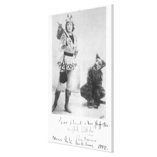 Marie Lloyd as Dick Whittington in 1898 Canvas Prints