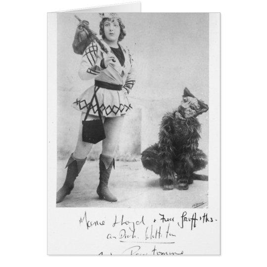 Marie Lloyd  as Dick Whittington in 1898 Card