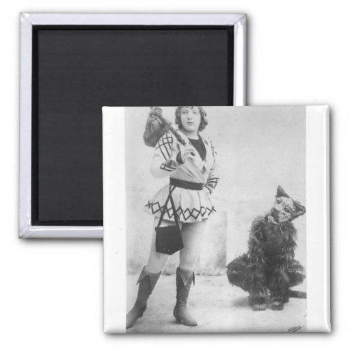 Marie Lloyd  as Dick Whittington in 1898 Fridge Magnet
