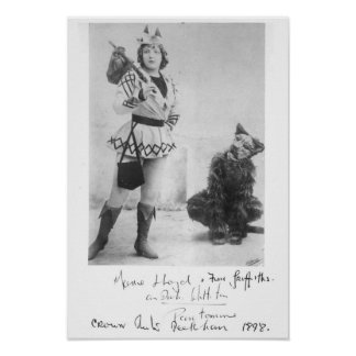 Marie Lloyd  as Dick Whittington in 1898 Poster