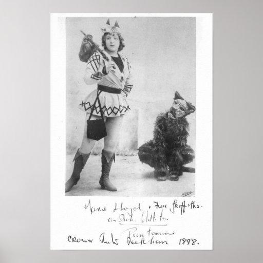 Marie Lloyd  as Dick Whittington in 1898 Print