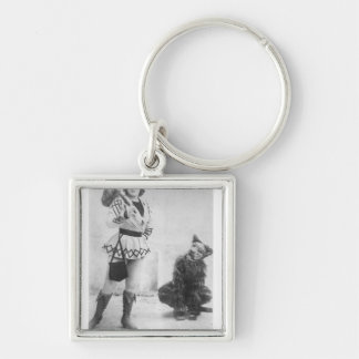 Marie Lloyd  as Dick Whittington in 1898 Silver-Colored Square Key Ring