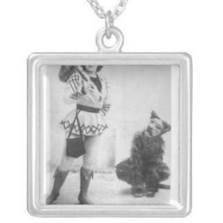 Marie Lloyd  as Dick Whittington in 1898 Square Pendant Necklace