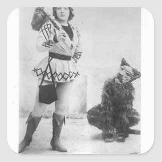 Marie Lloyd  as Dick Whittington in 1898 Square Sticker