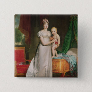 Marie Louise  and the King of Rome 15 Cm Square Badge