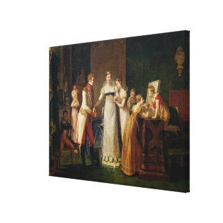 Marie-Louise Austria Bidding Farewell her Canvas Print