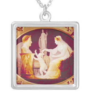 Marie-Louise of Austria  guiding her son Silver Plated Necklace