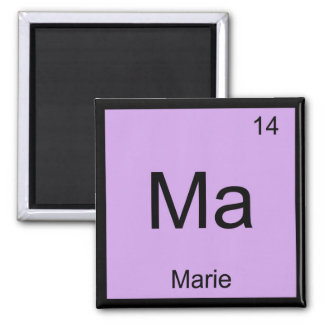 Marie Name Chemistry Element Periodic Table Magnet