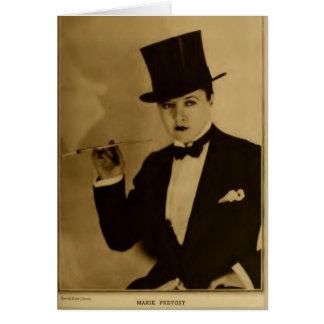Marie Prevost 1926 vintage portrait tuxedo Greeting Card