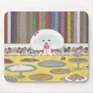 Marie, the Bichon Frise Mousepad
