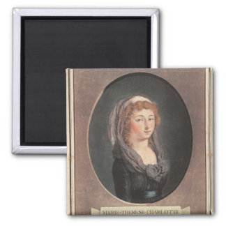Marie-Therese-Charlotte de France  aged seventeen Square Magnet